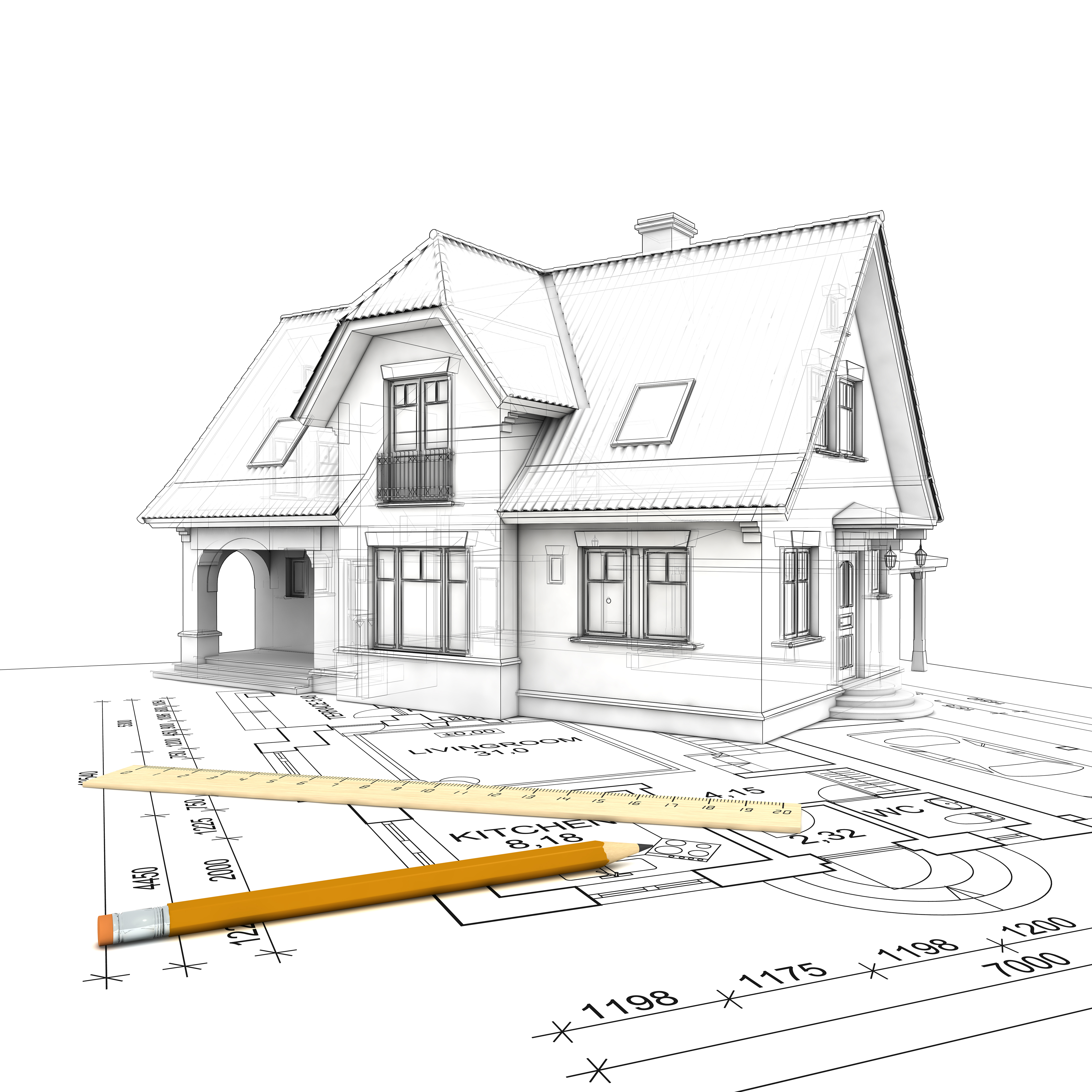 House 3d Drawing Building Contractors Kildare Dublin